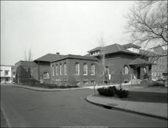 Thumbnail of Brown Hall Annex (Power Plant No. 2), The Ohio State University: Exterior view from southwest, 1963
