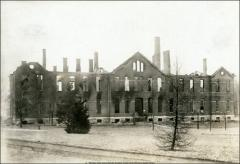 Thumbnail of Chemistry Building No. 1, The Ohio State University: Exterior view of fire damage