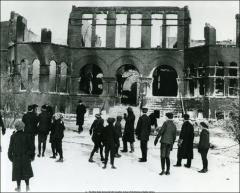 Thumbnail of Chemistry Building No. 2, The Ohio State University: Exterior after the fire