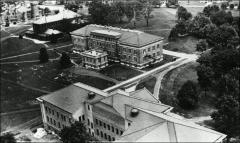 Thumbnail of Derby Hall (Chemistry Building No. 3), The Ohio State University: Aerial view