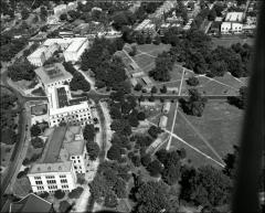 Thumbnail of Dallas Huts, The Ohio State University: Aerial view of Commerce Annexes