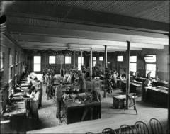 Thumbnail of Hayes Hall, The Ohio State University: Interior view of carpentry shop
