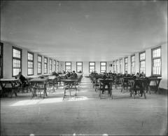 Thumbnail of Hayes Hall, The Ohio State University: Interior view of drawing classroom, 1898
