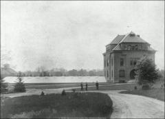 Thumbnail of Experiment Station and Greenhouses, The Ohio State University: Exterior view, 1888