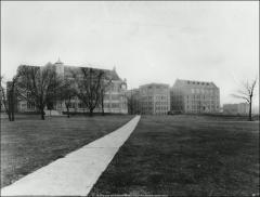 Thumbnail of Hamilton Hall and Starling Loving Hall, The Ohio State University: Exterior view of north elevations