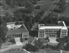 Thumbnail of Page Hall and Hagerty Hall, The Ohio State University: Aerial view