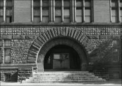 Thumbnail of Hayes Hall, The Ohio State University: Exterior detail of entrance