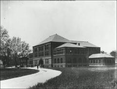 Thumbnail of Hayes Hall, The Ohio State University: Exterior view from southwest, 1896