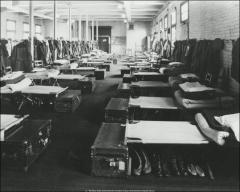 Thumbnail of Hayes Hall, The Ohio State University: Interior view of Air Force bunks