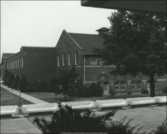 Thumbnail of Ives Hall, The Ohio State University: Exterior view from east with benches