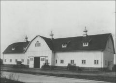 Thumbnail of Horse Barn, The Ohio State University: Exterior view from southeast, 1927