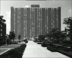 Thumbnail of Jones Graduate Tower, The Ohio State University: Exterior view, 1974