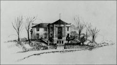 Thumbnail of Faculty Club, The Ohio State University: West elevation