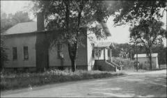 Thumbnail of First Poultry Farm, The Ohio State University: Poultry instruction building and laying pen from northwest