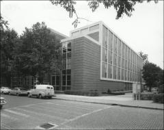 Thumbnail of Hopkins Hall, The Ohio State University: Exterior view from northwest