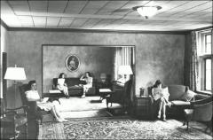 Thumbnail of Mack Hall, The Ohio State University: Interior view with women residents, 1938