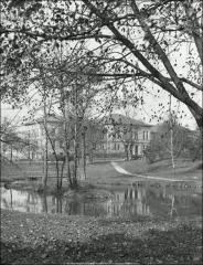 Thumbnail of Lazenby Hall, The Ohio State University: View across Mirror Lake, 1914