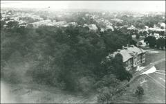 Thumbnail of Lord Hall, The Ohio State University: Aerial view with 'University Woods', 1913