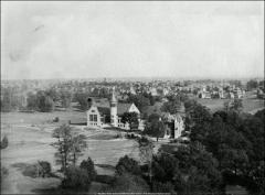 Thumbnail of Orton Hall, The Ohio State University: View looking southeast from University Hall, 1900