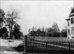 Thumbnail of Entrance to campus with Faculty Residences No. 1, 2, and 3, The Ohio State University: View from High Street looking west, 1890
