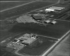 Thumbnail of Hangar No. 5, The Ohio State University Airport: Aerial view of Don Scott Field