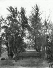Thumbnail of Honors House (President's Residence No. 2), The Ohio State University: View from Browning Amphitheater