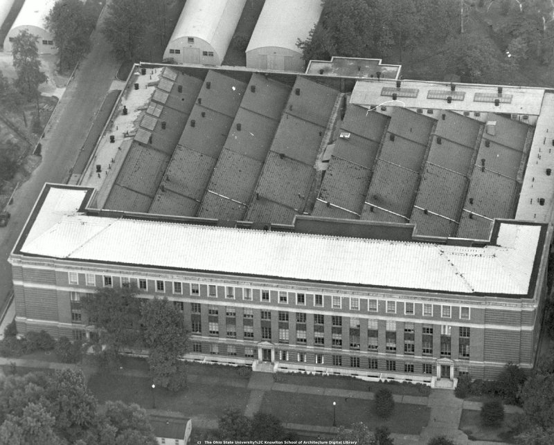 Aerial View of McPherson Lab - Circa 1947