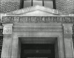 Thumbnail of McPherson Chemical Laboratory, The Ohio State University: Exterior detail of doorway and alchemy symbols