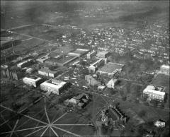Thumbnail of Central Campus, The Ohio State University: Aerial view, ca. 1946-48