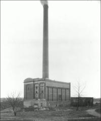 Thumbnail of McCracken Power Plant, The Ohio State University: Exterior view, ca. 1917