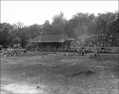 Thumbnail of Ohio Field and Ohio Field Buildings, The Ohio State University: Event showing field, grandstand, and west bleachers, 1908