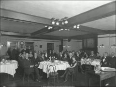 Thumbnail of Oxley Hall, The Ohio State University: Interior view of dining room