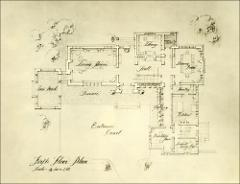 Thumbnail of Honors House (President's Residence No. 2), The Ohio State University: Original plans of first floor