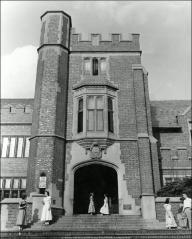 Thumbnail of Pomerene Hall, The Ohio State University: Exterior view, ca. 1952