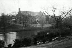 Thumbnail of Pomerene Hall, The Ohio State University: View across Mirror Lake, 1927