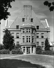 Thumbnail of Student Services Building (Enarson Hall), The Ohio State University: Exterior view from east, 1955