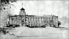 Thumbnail of Ramseyer Hall, The Ohio State University: Rendering, 1931