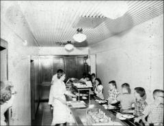 Thumbnail of Ramseyer Hall, The Ohio State University: Interior view of cafeteria for school children
