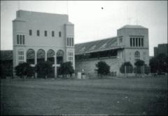 Thumbnail of Ohio Stadium, The Ohio State University: Exterior view of scoreboard from south, 1984