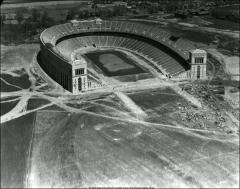 Thumbnail of Ohio Stadium, The Ohio State University: Aerial view, 1923