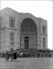 Thumbnail of Ohio Stadium, The Ohio State University: Exterior view of entry exedra, 1935