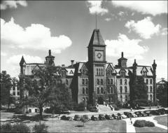 Thumbnail of University Hall (demolished), The Ohio State University: Exterior view, 1946
