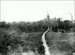 Thumbnail of University Hall (demolished), The Ohio State University: Distant view, 1896