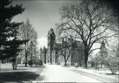 Thumbnail of University Hall (demolished), The Ohio State University: Exterior view, 1905