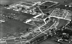 Thumbnail of Veterans Emergency Housing (Buckeye Village), The Ohio State University: Aerial view, 1947