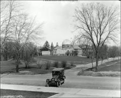 Thumbnail of McMillin Observatory, The Ohio State University: Exterior view from Botany and Zoology Building looking northeast, 1919