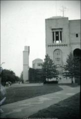 Thumbnail of Ohio Stadium, The Ohio State University: Exterior view of scoreboard from east, 1984