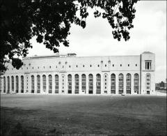Thumbnail of Ohio Stadium, The Ohio State University: Exterior view showing stadium dormitories