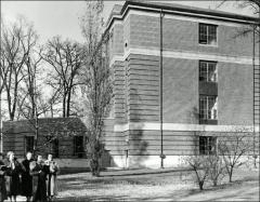 Thumbnail of Stillman Hall, The Ohio State University: South side of building showing auditorium exterior, 1938