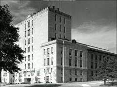 Thumbnail of Thompson Memorial Library, The Ohio State University: Exterior view from southwest